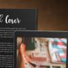 موکاپ کتاب روی میز در کنار تبلت 2