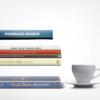 موکاپ چندین کتاب روی هم با اندازه شیرازه های مختلف 2