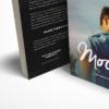 موکاپ کتاب با جلد کاغذی در حالت ایستاده 2