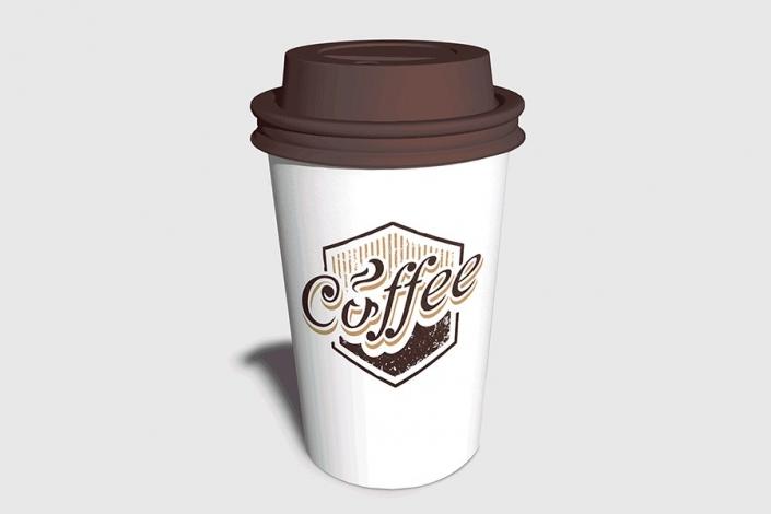 موکاپ لیوان قهوه تصویر واقعی